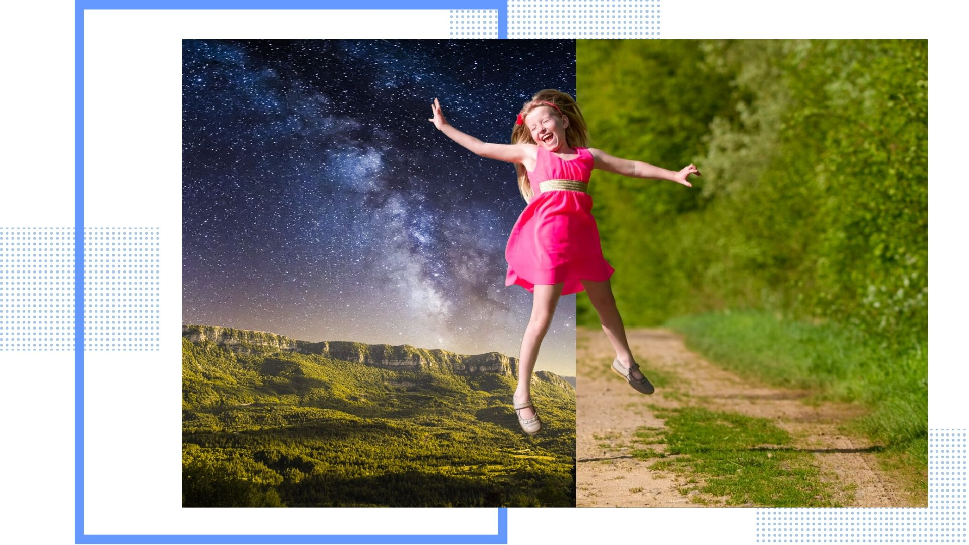Teleporting to anywhere you want by creating transparent background image.