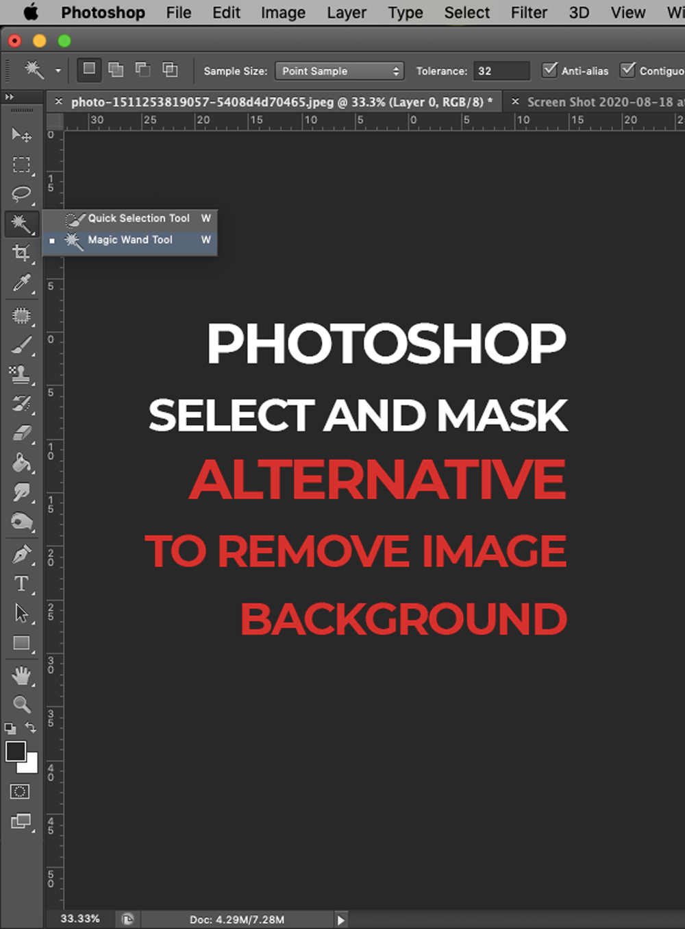 PHOTOSHOP'S SELECT AND MASK
