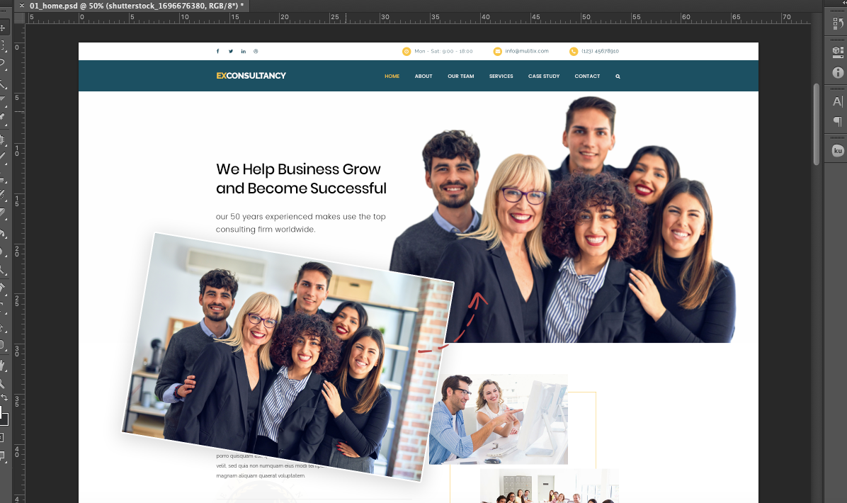 FREE Corporate Website PSD Templates- Remove BG