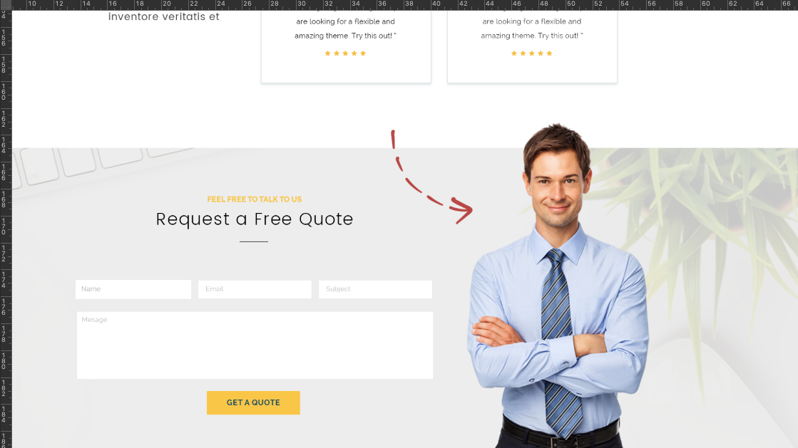 FREE Corporate Website PSD Templates- Remove Background