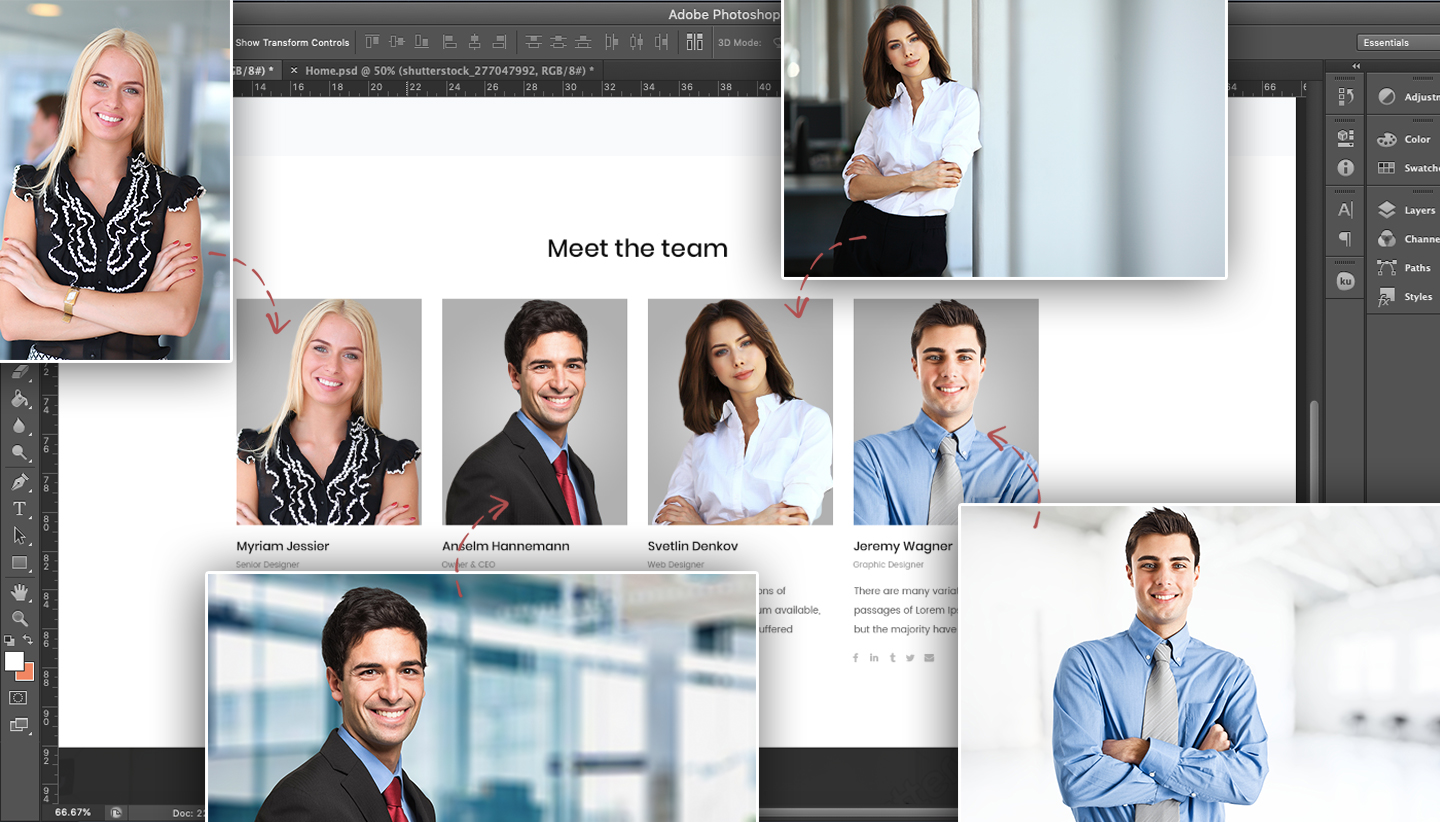 Corporate Website PSD Template - Background Removal by Removal.AI