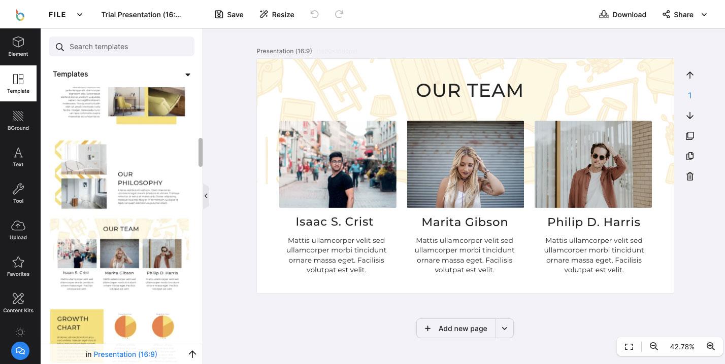 Design Bold online photo editor