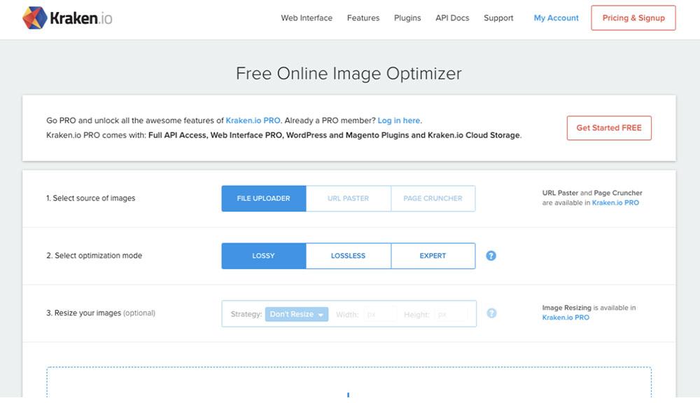 Kraken.io Image Resizer APIs