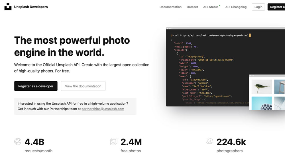 Unsplash Stock Photos APIs