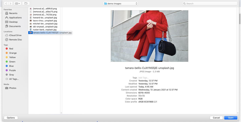 upload image to create transparent background