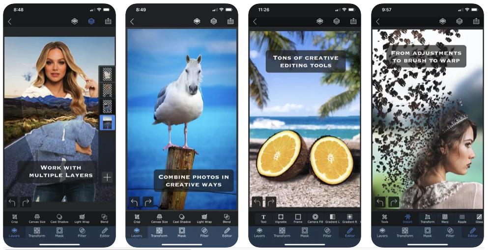 Superimpose-X Photo Editing App