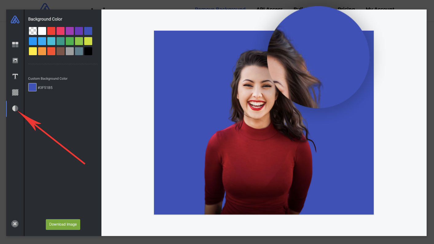 remove background from hair