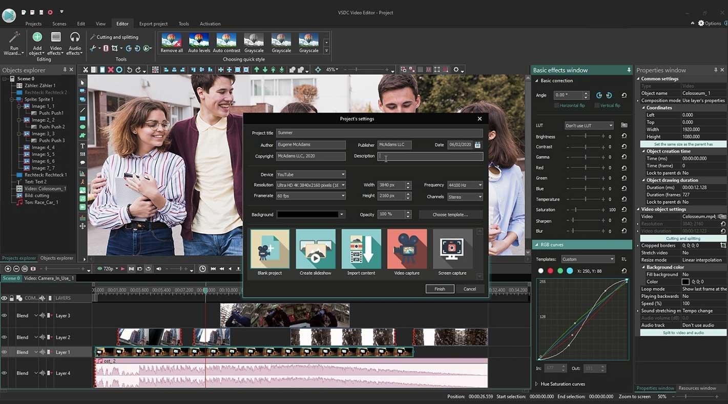 VSDC Video Editor Online Video Editor