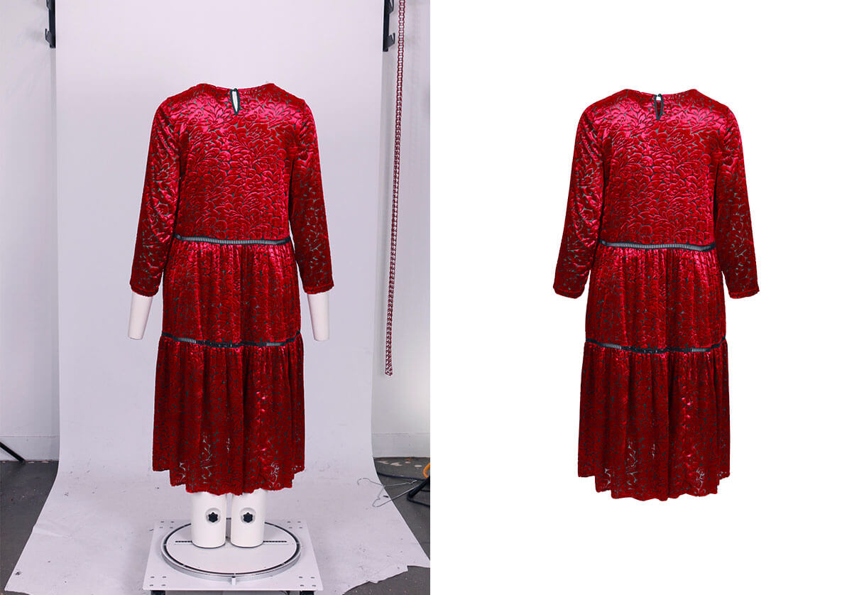 clothing manual background removal service