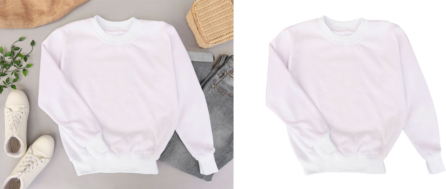 product manual background removal service