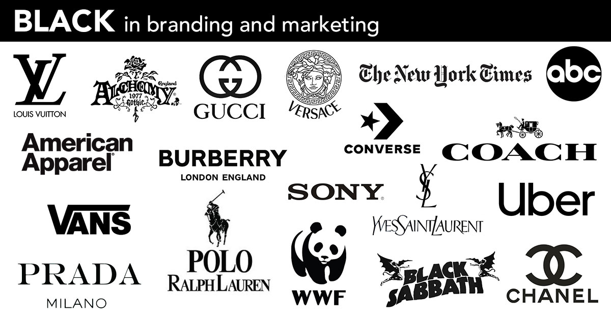 black background - branding