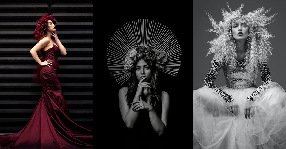 black background - fashion photography