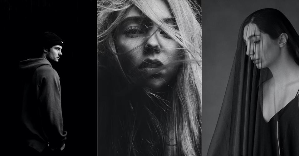 black background - portrait photography